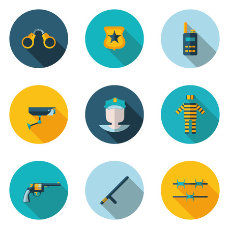sergeant: flat icons police in vector format