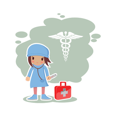 girl: girl doctor