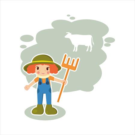 lady cow: best flat girl farmer