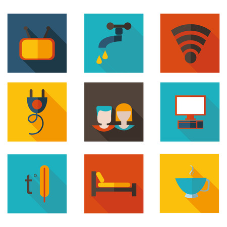 hostel: best flat icons theme hostel