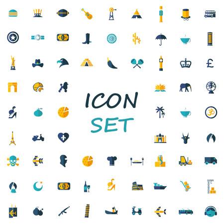 popular: popular set of flat icons Illustration