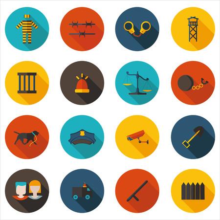 imprisonment: best flat icons imprisonment Illustration