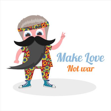 hippies: best man hippies  in vector format eps10