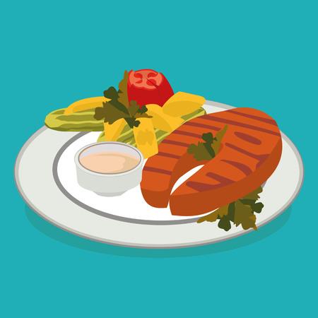 krill: best flat food in vector format eps10 Illustration