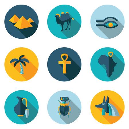 migliori icone piane Egitto in formato vettoriale