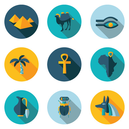 best flat icons Egypt in vector format