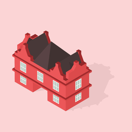isometry: the mansion is an isometry in vector format eps10