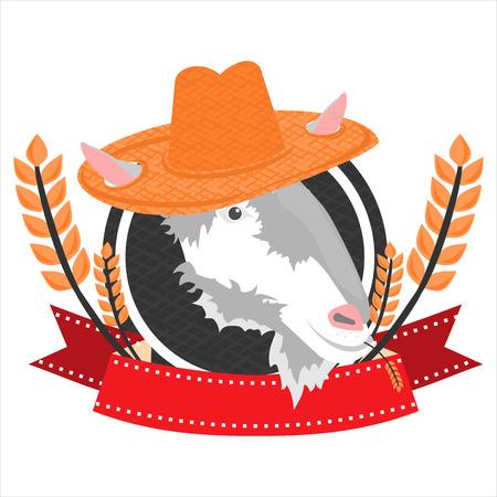 capra: super best flat goat in vector format eps10