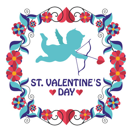 valentine s day: greeting frame Valentine s day in vector format eps10 Illustration