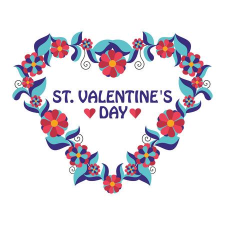 valentine s: greeting frame Valentine s day in vector format eps10 Illustration