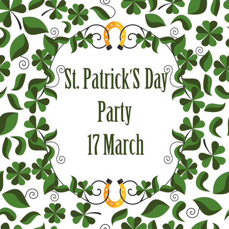 st patrick s day: pattern greeting happy St. Patrick s day in vector format eps10