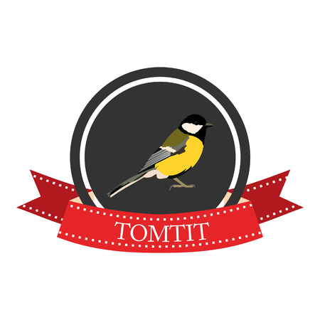 tomtit: flat icon tomtit in vector format eps10 Illustration