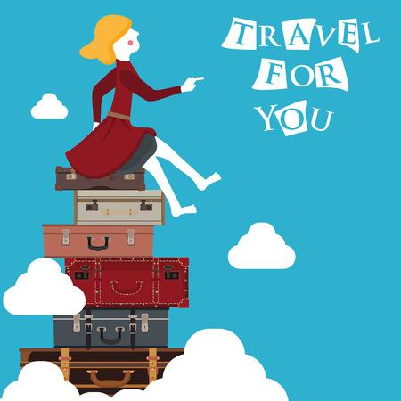 viajar para usted en formato vectorial eps10