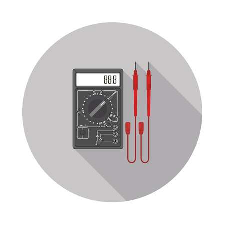 ammeter: flat icon multimeter Illustration