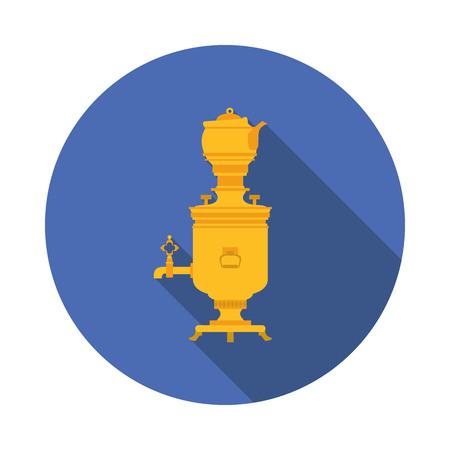 samovar: flat icon samovar
