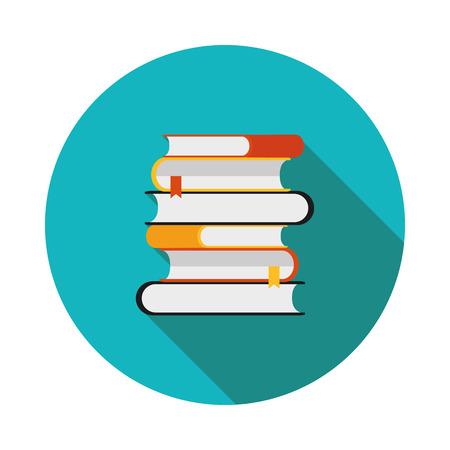 icona piatto è una pila di libri Vettoriali