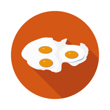 cooking ingredients: flat icon fried eggs in vector format eps10