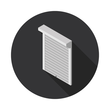 roller shutters: flat icon roller shutter in vector format