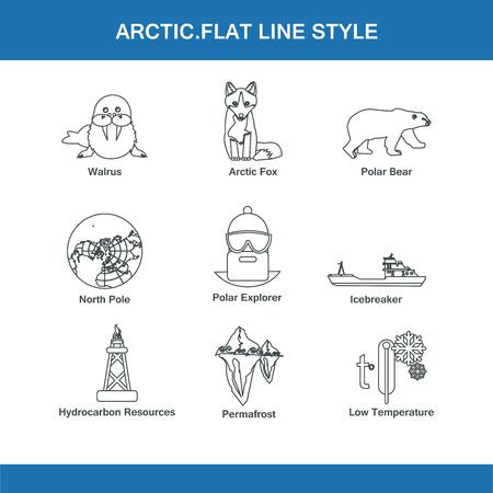 arctic: arctic  flat line style