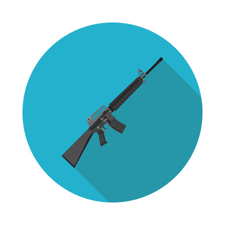 M16: flat icon rifle M16
