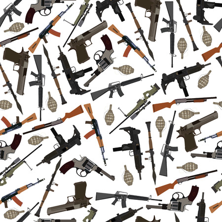 weapons: flat seamless pattern weapons