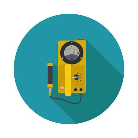 detectors: flat icon Geiger in format Illustration