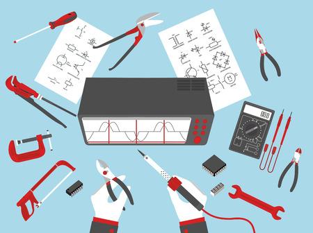 soldering: flat electronic repairs in format