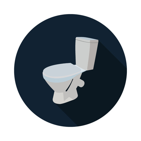 icon 3d: flat icon toilet 3d Illustration