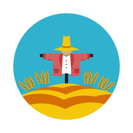 flat icon Scarecrow Illustration