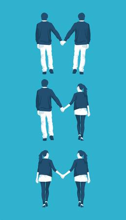 LGBT community types orientations Illustration