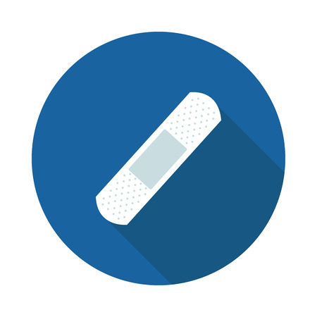 long recovery: flat icon is a Bandages in vector format Illustration