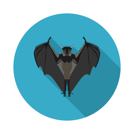 flat icon bat in vector format