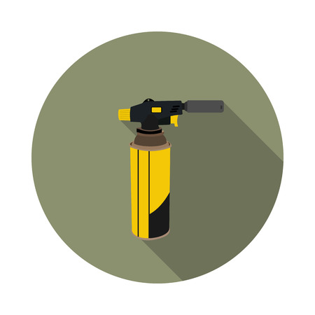 solder: flat icon gas torch for soldering in vector format