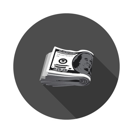 pack of dollars: flat icon pack of dollars in vector format