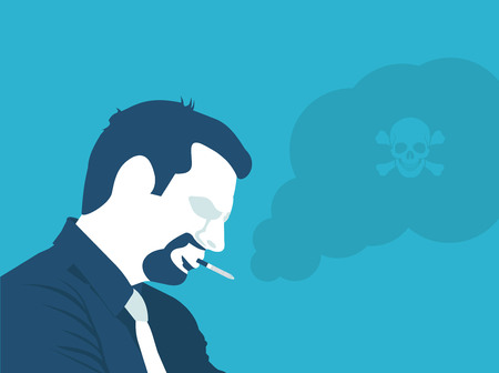 harmful: Smoking is poison in vector format Illustration