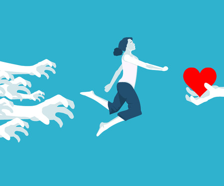 girl and first love in vector format Illustration
