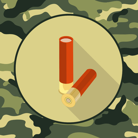 ammo: flat icon ammo,item in camouflage vector format eps10
