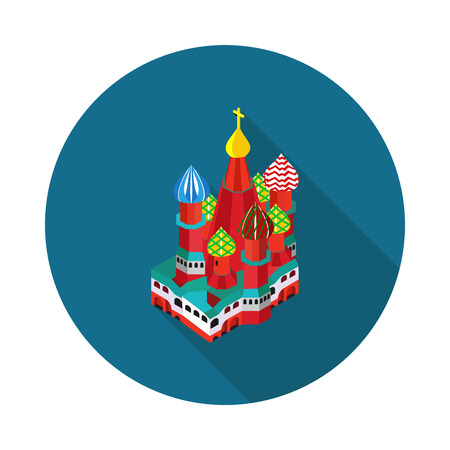 St. Basil is Cathedral in vector format eps10 Illustration