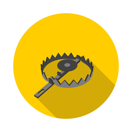 bear trap: flat icon trap in vector format eps10 Illustration