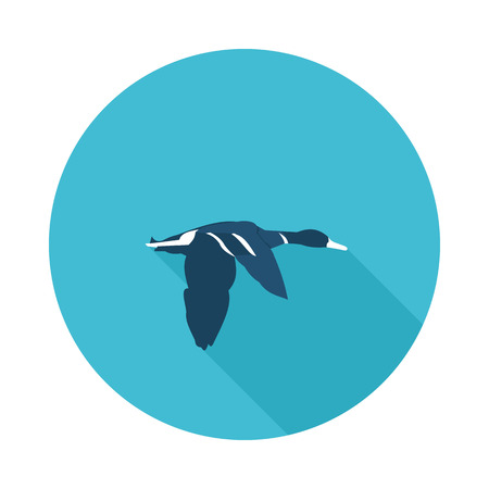 duck flat icon in vector format