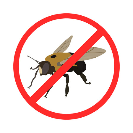 sign of ban insects in vector format eps10