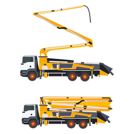 concrete pump two status in vector format eps10
