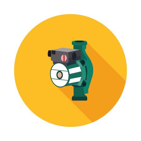 flat icon hydraulic pump in vector format eps10 Vector Illustration