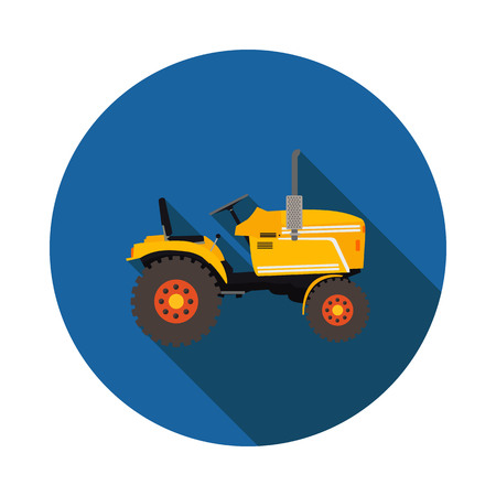 agronomics: flat icon tractor in vector format eps10 Illustration