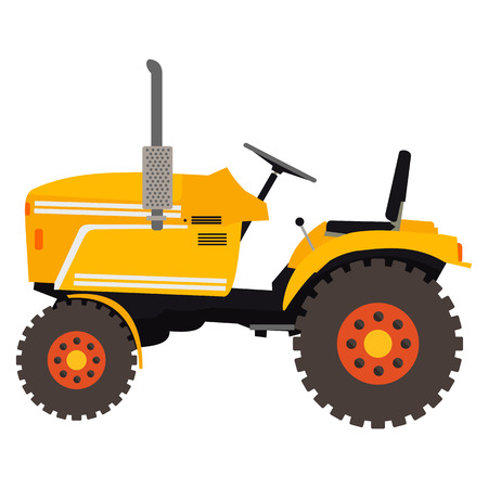 flat illustration of a tractor in vector format eps10