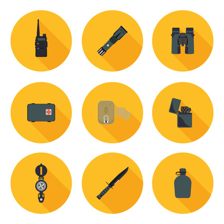survival: flat icons set of survival in vector format eps10