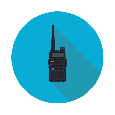 portable radio flat icon in vector format eps10 Illustration