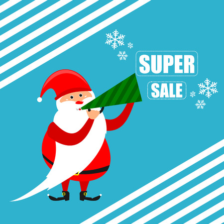 Santa super discount new year in vector format eps10