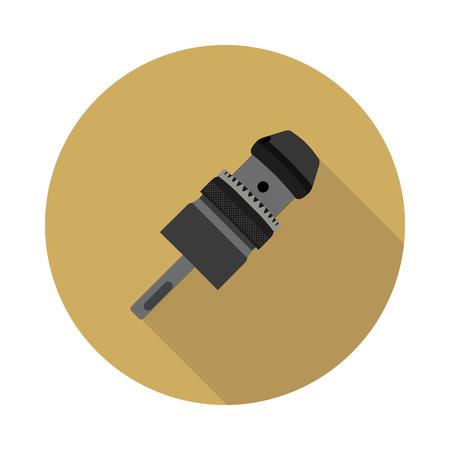 keyless: flat icon Keyless Chuck drill in vector format eps10