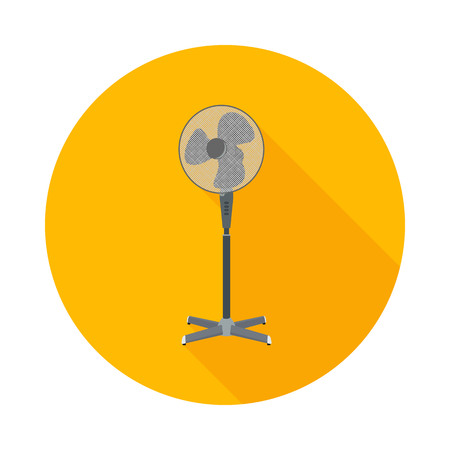 flat icon electric fan in vector format eps10
